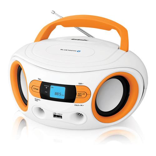Аудиомагнитола BBK BS15BT, белый и оранжевый цена 2017