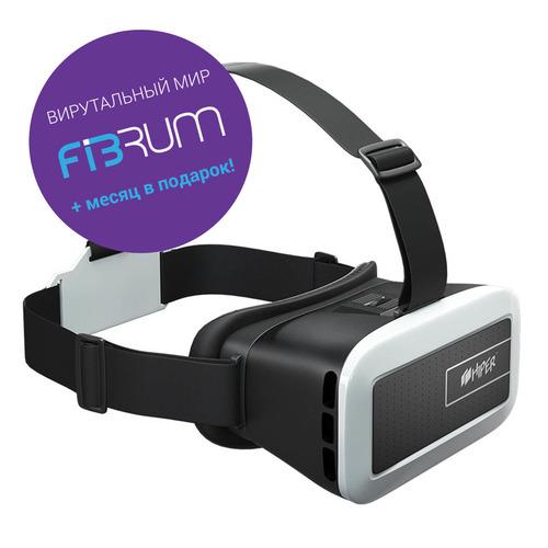 Очки виртуальной реальности HIPER VR VRM, черный/белый все цены