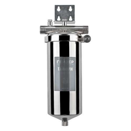 Водоочиститель ГЕЙЗЕР Тайфун 10ВВ, серебристый картридж осадочный гейзер ррy 10вв 5мкр для холодной воды