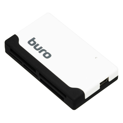 Картридер внешний BURO BU-CR-2102, белый картридер внешний buro bu cr 110 черный