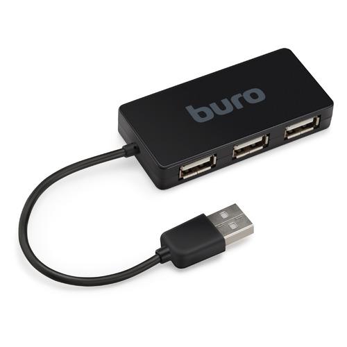Фото - Хаб (разветвитель) BURO BU-HUB4-U2.0-Slim, черный футболка wearcraft premium slim fit printio ещь спи обнимайся