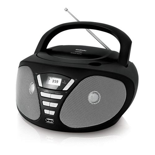 Аудиомагнитола BBK BX180U, черный и серый mystery аудиомагнитола mystery bm 6101 серый 4вт cd cdrw mp3 fm an