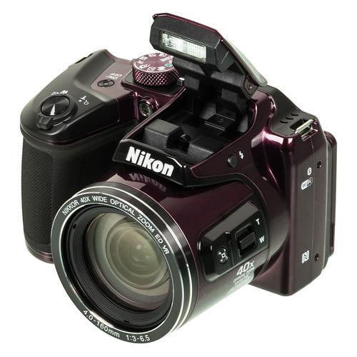 Фото - Цифровой фотоаппарат NIKON CoolPix B500, фиолетовый baile pretty love magic tongue фиолетовый вибромассажер с клиторальным стимулятором ротатором