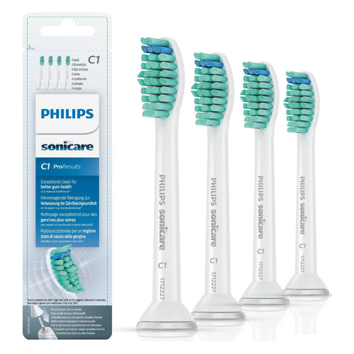 Сменные насадки PHILIPS Sonicare ProResults HX6014/07, 4 шт new 4pcs hx6034 generic electric sonic replacement brush heads fits for philips sonicare toothbrush heads kids soft bristles