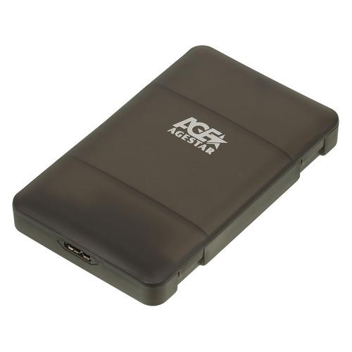 Фото - Внешний корпус для HDD/SSD AGESTAR 3UBCP3, черный внешний корпус для hdd agestar 3c4b3a sata ii алюминий черный lcd 3 5