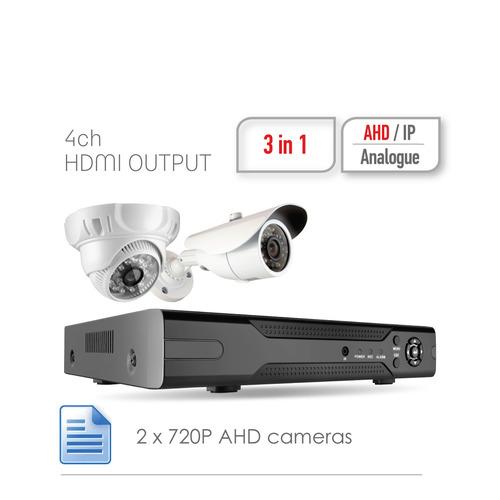 Комплект видеонаблюдения GINZZU HK-420D блок питания для камер видеонаблюдения ginzzu для питания 2 4 камер 12v 2 0a