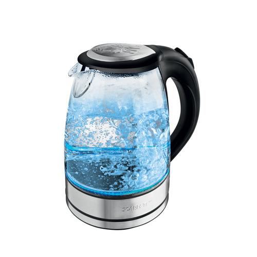 лучшая цена Чайник электрический SCARLETT SC-EK27G14, 2200Вт, черный