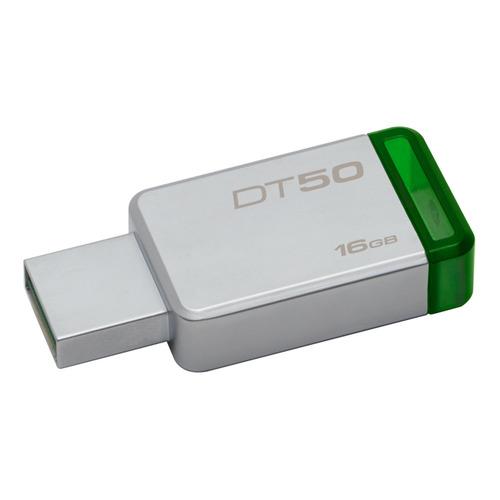 """Фото - Флешка USB KINGSTON DataTraveler 50 16Гб, USB3.0, зеленый [dt50/16gb] дмитрий быков лекция открытый урок – """"отцы и дети"""" и с тургенев"""