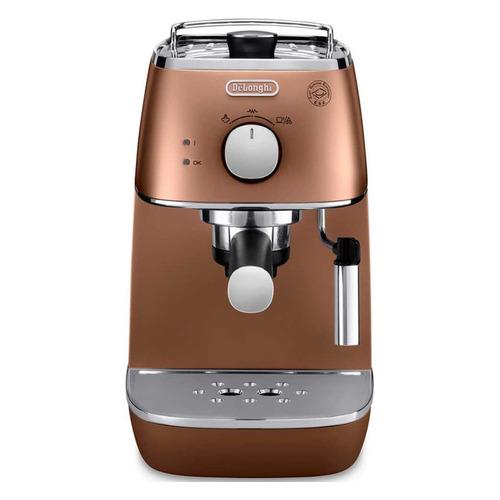Кофеварка DELONGHI ECI341CP, эспрессо, медный [0132104146] кофеварка эспрессо delonghi ecp33 21 r 1100вт красный