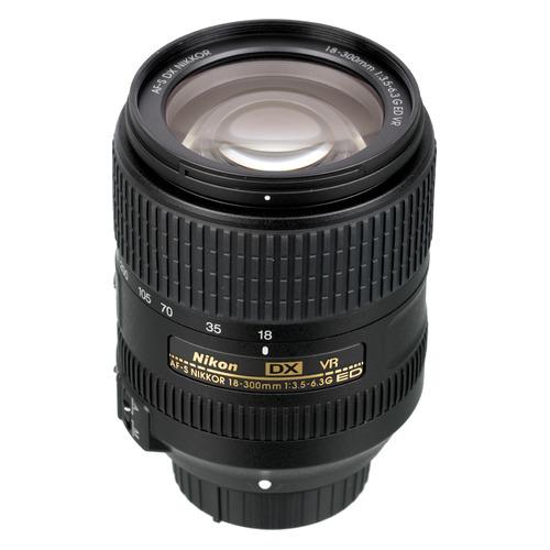 Объектив NIKON 18-300mm f/3.5-6.3 AF-S DX Nikkor ED VR, Nikon F, черный [jaa821da]