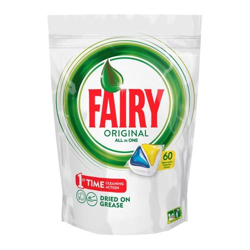 цены Средство для мытья посуды FAIRY Original All In One, для посудомоечных машин, Лимон, 60 [fr-81574625]