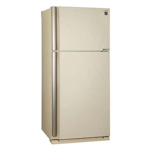 Холодильник SHARP SJ-XE55PMBE, двухкамерный, бежевый цена и фото