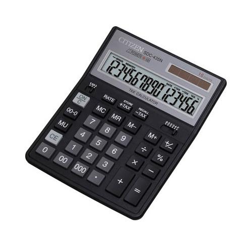 Калькулятор CITIZEN SDC-435N, 16-разрядный, черный цена