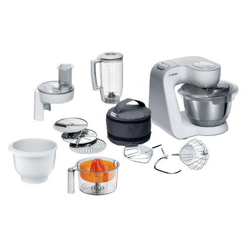 Кухонный комбайн BOSCH MUM58243, серый/белый все цены