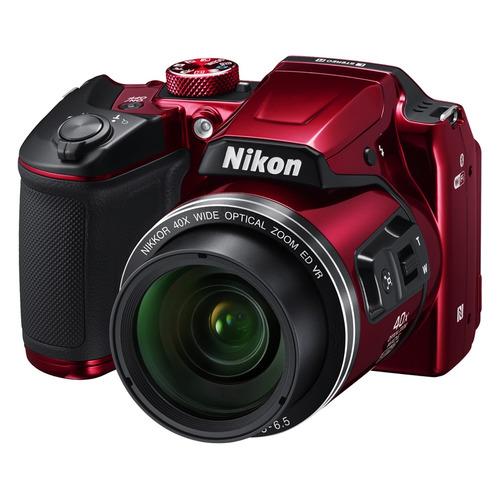 Фото - Цифровой фотоаппарат NIKON CoolPix B500, красный самокат кикборд novatrack disco kids детский 3 колесный 120sb discokids rd9 красный