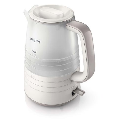 лучшая цена Чайник электрический PHILIPS HD9336/21, 2200Вт, бежевый и белый