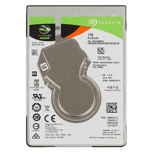 Жесткий диск SEAGATE Firecuda ST1000LX015, 1Тб, гибридный HDD/SSD, SATA III, 2.5