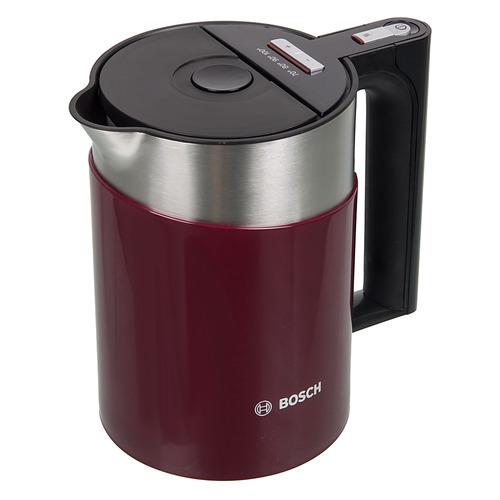 Чайник электрический BOSCH TWK861P4RU, 2400Вт, красный цена и фото