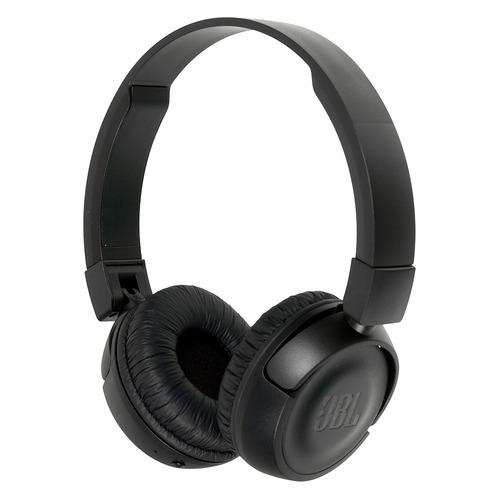 цена на Наушники с микрофоном JBL T450BT, Bluetooth, накладные, черный [jblt450btblk]