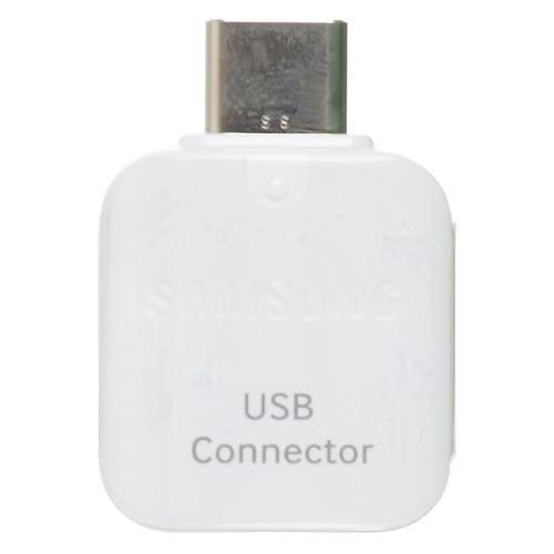 Переходник SAMSUNG EE-UN930, USB Type-C (m), USB A(f), белый [ee-un930bwrgru] переходник type c samsung ee un930bwrgru плоский