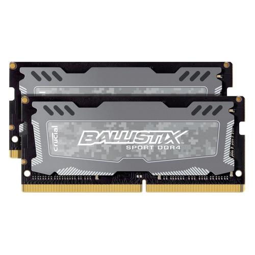 Модуль памяти CRUCIAL Ballistix Sport LT BLS2K4G4S240FSD DDR4 - 2x 4Гб 2400, SO-DIMM, Ранее BLS2C4G4S240FSD, Ret цена 2017