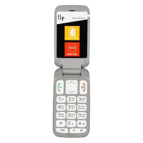 Мобильный телефон FLY Ezzy Trendy 3, белый fly ezzy trendy 3 серый
