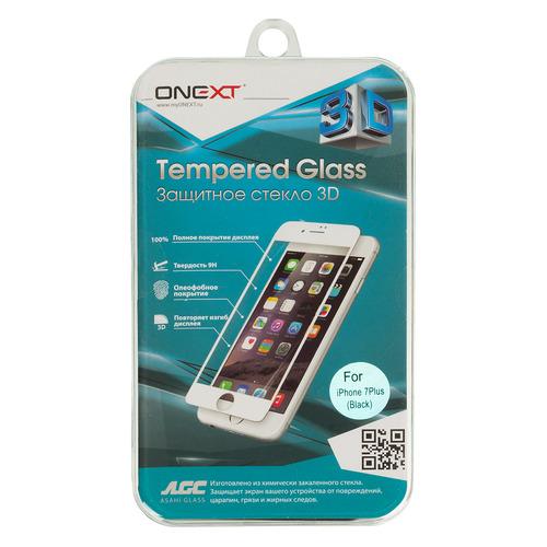 Фото - Защитное стекло для экрана ONEXT 3D для Apple iPhone 7/8 Plus, 1 шт, черный [41161] чехол для сотового телефона nibk khabib nurmagomedov для iphone 7 8 черный