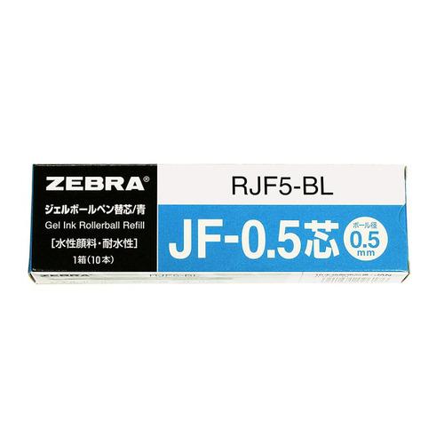Фото - Стержень для гелевых ручек Zebra JF (RJF5-BL) 0.5мм синий блистер (2шт) luxor набор гелевых ручек tru gel цвет синий 3 шт