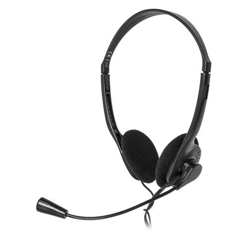 Гарнитура HAMA HS-101, для контактных центров, накладные, черный [00053999] все цены
