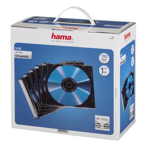 Фото - Коробка HAMA H-51270, 100шт., прозрачный+черный, для 100 дисков [00051270] 100 великих научных открытий