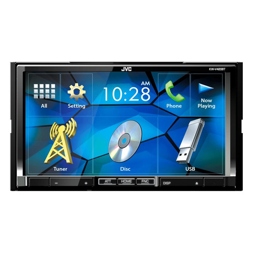 Автомагнитола JVC KW-V420BT, USB reakosound 6201a 6 2 inch 6201a audio dvd sb sd bluetooth 2 din car cd player 1 3 inch color cmos camera