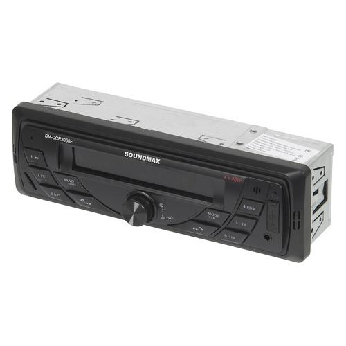 Автомагнитола SOUNDMAX SM-CCR3058F, USB, microSD/TF, черный  - купить со скидкой