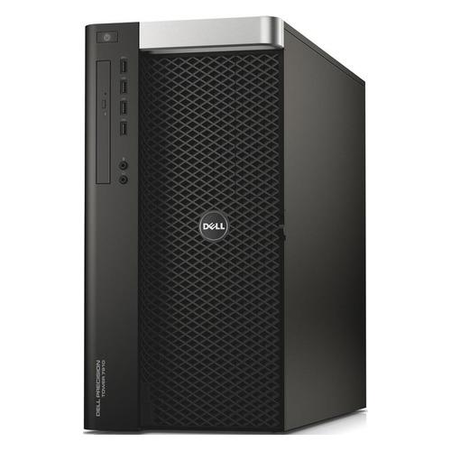 Рабочая станция DELL Precision R7910, Intel Xeon E5-2637 v3, DDR4 8Гб, 500Гб + 500Гб, NVIDIA NVS 310 - 1024 Мб, DVD-RW, Windows 10 Professional, черный [210-acyx-2]