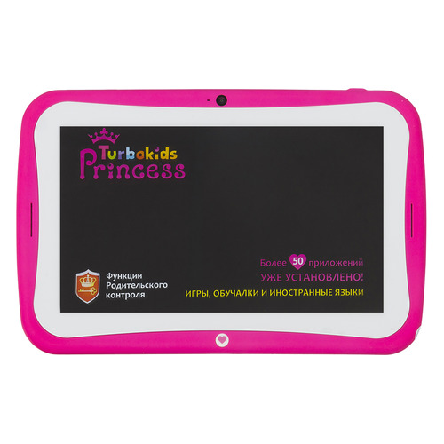 все цены на Детский планшет TURBO TurboKids Princess New 8Gb, Wi-Fi, Android 5.1, розовый [рт00020454] онлайн
