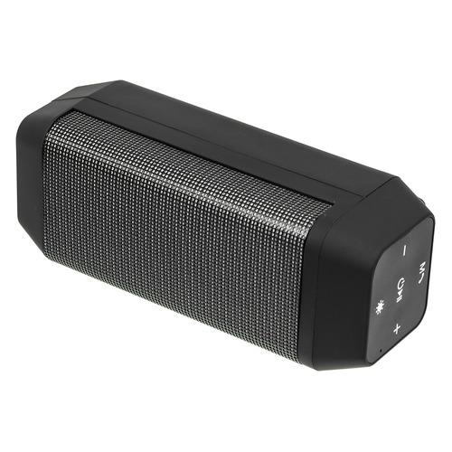 Портативная колонка GINZZU GM-899B, 6Вт, черный портативная колонка ginzzu gm 875b black 6 вт 140 18 000 кгц bluetooth fm mini jack usb microsd батарея