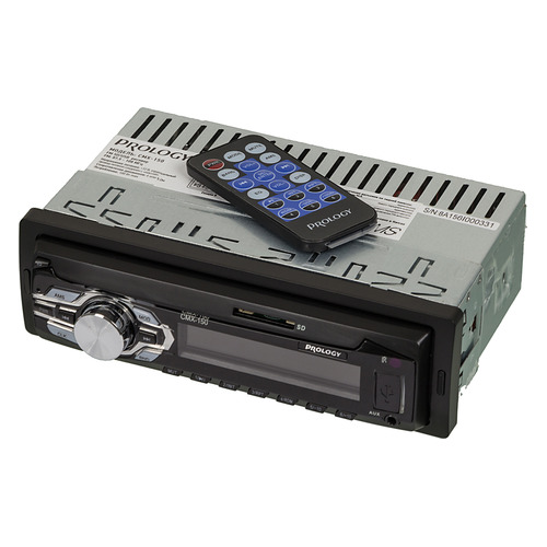 Автомагнитола PROLOGY CMX-150, USB, SD/MMC автомагнитола prology cmx 100 1din