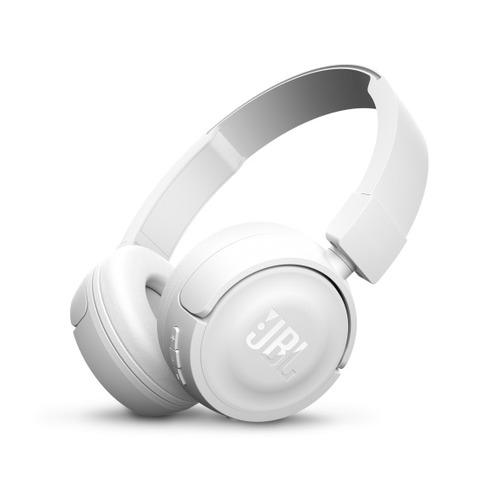 цена на Наушники с микрофоном JBL T450BT, Bluetooth, накладные, белый [jblt450btwht]