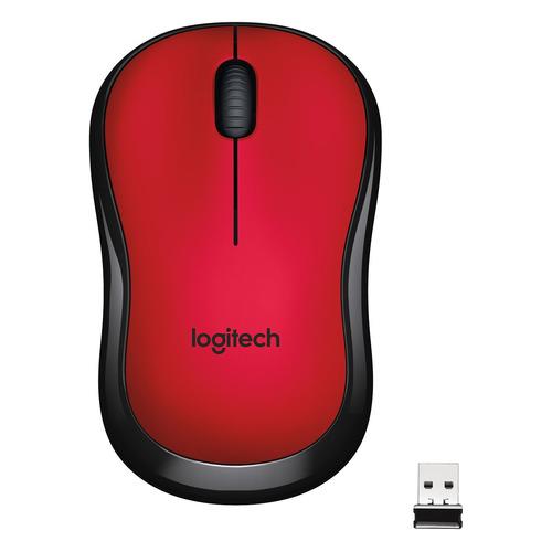 Мышь LOGITECH M220, оптическая, беспроводная, USB, красный [910-004880]
