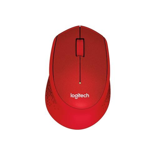 Мышь LOGITECH M330 Silent Plus, оптическая, беспроводная, USB, красный [910-004911]
