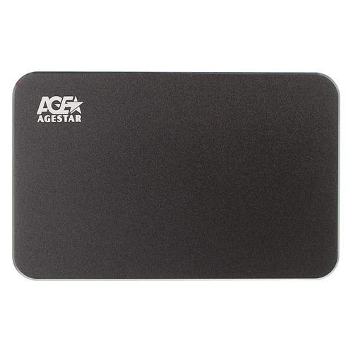 Внешний корпус для HDD AGESTAR 3UB2A18C, черный внешний корпус для hdd agestar ot 3u25p bk черный