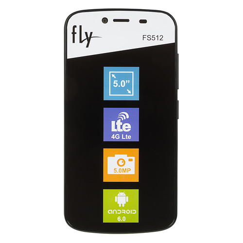Смартфон FLY Nimbus 10 FS512, черный mobile phone lcds complete for fly fs501 nimbus 3 lcd touch digitizer assembly for fly fs 501 lcd screen display free tracking