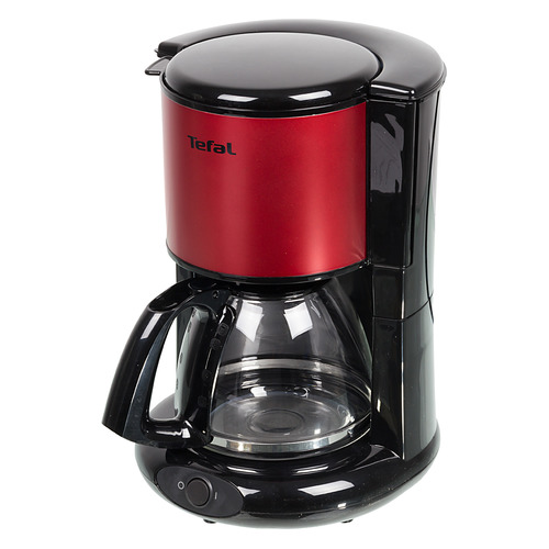 лучшая цена Кофеварка TEFAL CM361E38, капельная, красный [7211002513]