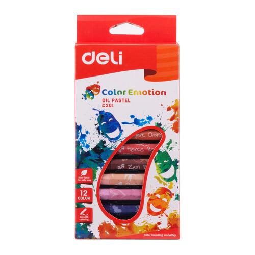 Упаковка пастели масляной DELI Color Emotion EC20100 EC20100, шестигранные, 12 цветов 20 шт./кор. EC20100 по цене 2 000