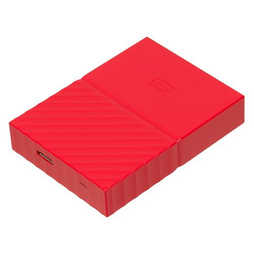 Внешний жесткий диск WD My Passport WDBBEX0010BRD-EEUE, 1Тб, красный 2 5 2000gb wd my passport wdbuax0020bbl eeue usb3 0 синий
