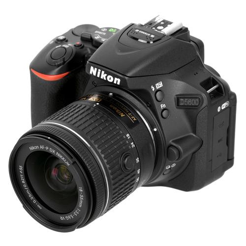 цена на Зеркальный фотоаппарат NIKON D5600 kit ( 18-55 VR AF-P f/3.5-5.6G), черный