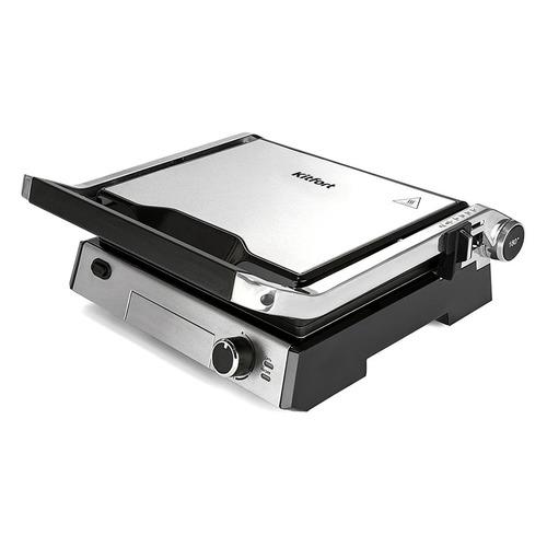 Электрогриль KITFORT KT-1602, серебристый и черный недорого
