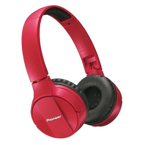 Фото - Наушники с микрофоном PIONEER SE-MJ553BT-R, Bluetooth, мониторные, красный наушники pioneer se mj553bt w