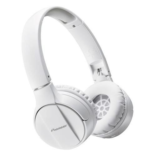 Фото - Наушники с микрофоном PIONEER SE-MJ553BT-W, Bluetooth, мониторные, белый наушники pioneer se mj553bt w