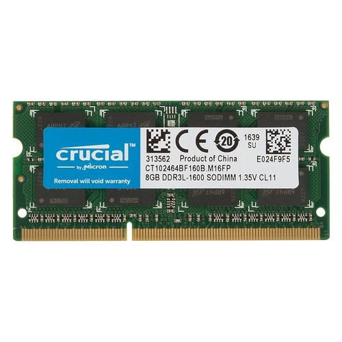 Модуль памяти CRUCIAL CT102464BF160B DDR3L - 8Гб 1600, SO-DIMM, OEM все цены