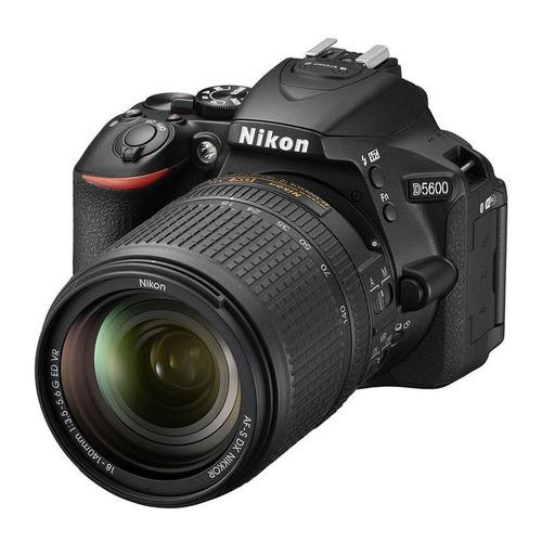 цена на Зеркальный фотоаппарат NIKON D5600 kit ( 18-140 VR AF-S), черный